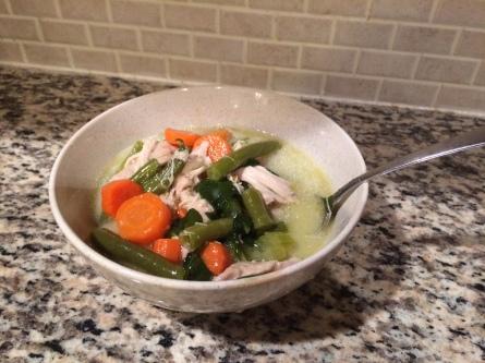 Creamy Spinach Chicken and Veggie Soup