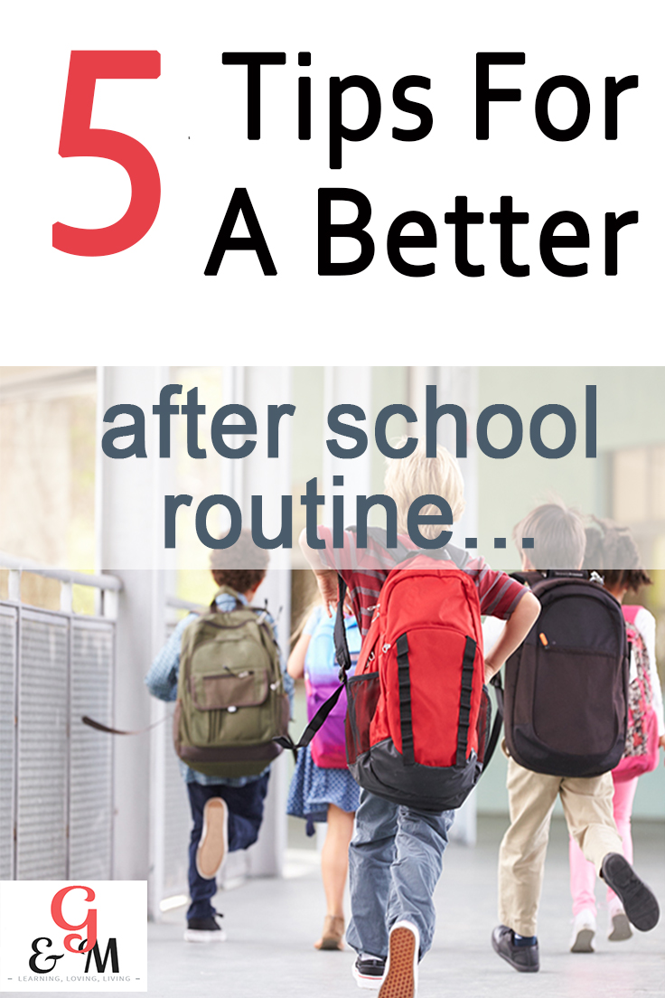 5 Tips for a better after school routine